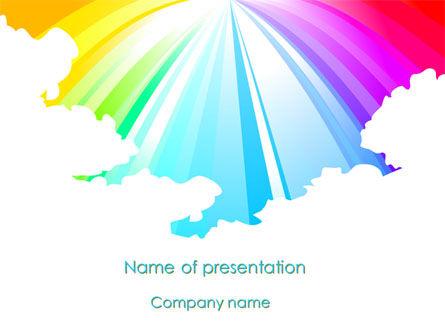 Religious/Spiritual: Rainbow PowerPoint Template #08247