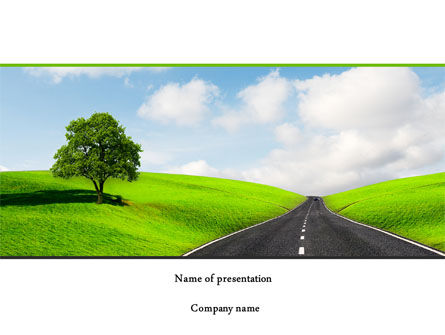 Construction: Clear Road PowerPoint Template #08248