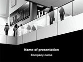 Business Center In Gray Colors PowerPoint Template#1