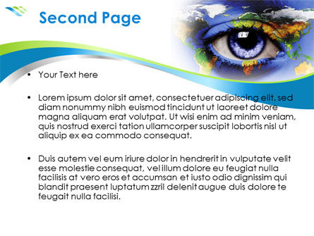World Eye PowerPoint Template Slide 2