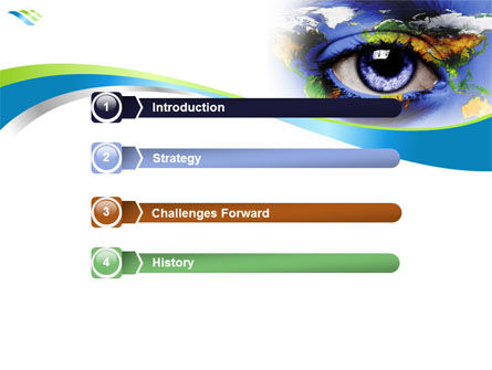 World Eye PowerPoint Template Slide 3