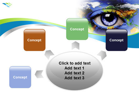 World Eye PowerPoint Template Slide 7