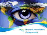 Global: World Eye PowerPoint Template #08253