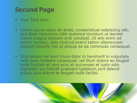 Leaf Design Motif PowerPoint Template, Slide 2, 08259, Abstract/Textures — PoweredTemplate.com