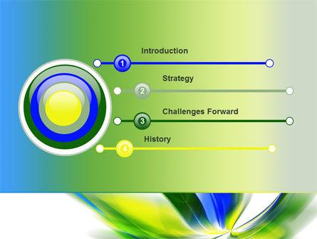 Leaf Design Motif PowerPoint Template, Slide 3, 08259, Abstract/Textures — PoweredTemplate.com