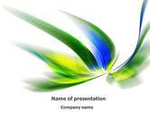 Abstract/Textures: Modèle PowerPoint de motif de conception de feuilles #08259