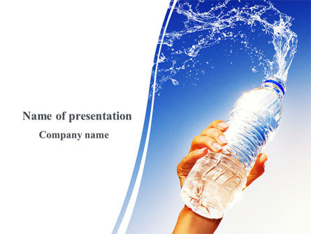 Mineral Water PowerPoint Template, 08260, Careers/Industry — PoweredTemplate.com