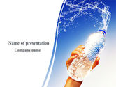 Careers/Industry: Mineral Water PowerPoint Template #08260