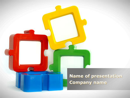 Square Puzzles PowerPoint Template, 08261, Business — PoweredTemplate.com