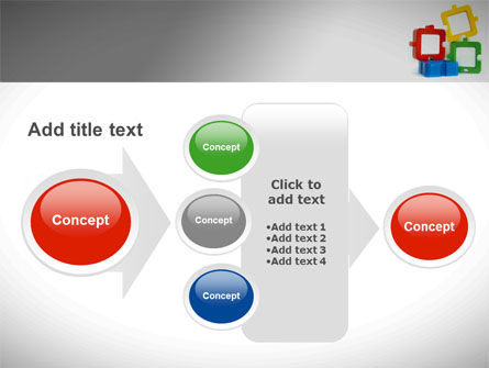 Square Puzzles PowerPoint Template Slide 17