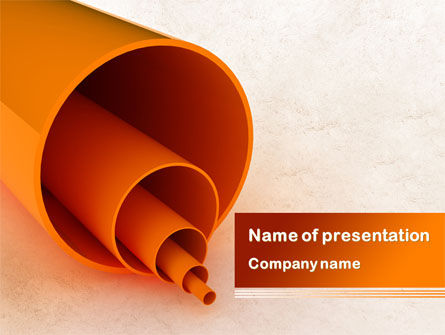 Utilities/Industrial: Plastic Pipes PowerPoint Template #08262
