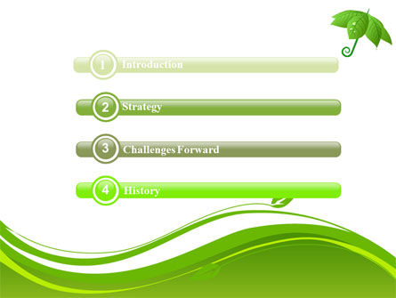 Leaf Umbrella PowerPoint Template, Slide 3, 08263, Nature & Environment — PoweredTemplate.com