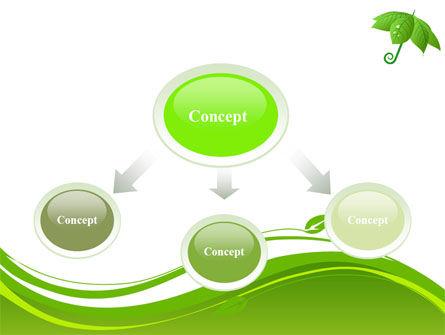 Leaf Umbrella PowerPoint Template, Slide 4, 08263, Nature & Environment — PoweredTemplate.com