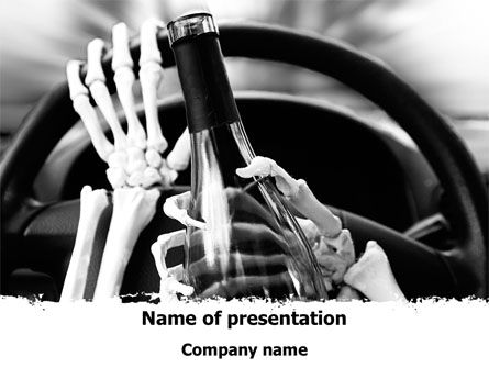 Drunk Driving PowerPoint Template, 08264, Cars and Transportation — PoweredTemplate.com