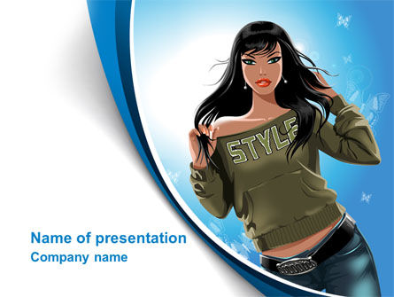 Stylish Girl PowerPoint Template