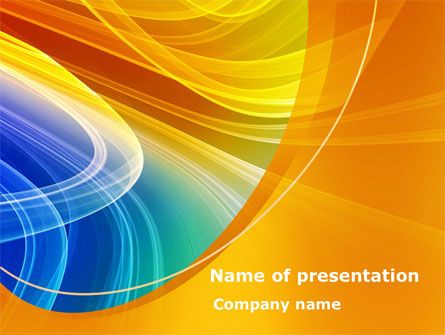 Abstract/Textures: Rainbow Smoke PowerPoint Template #08266