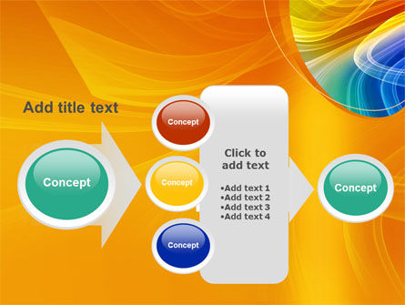 Rainbow Smoke PowerPoint Template Slide 17