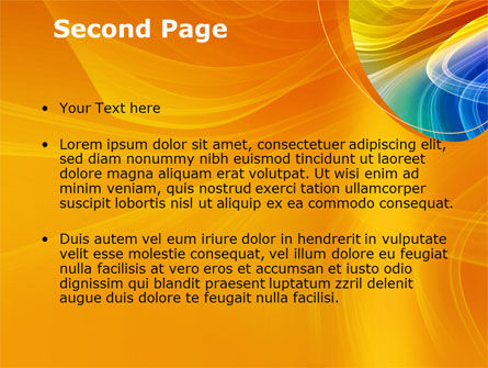 Rainbow Smoke PowerPoint Template Slide 2