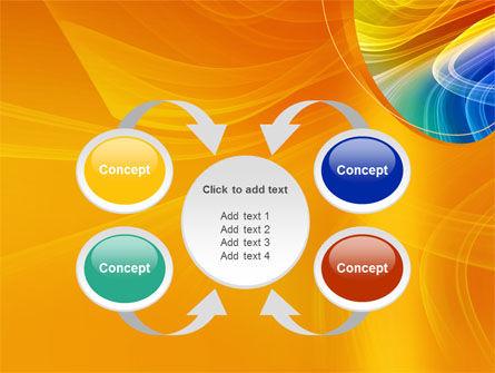 Rainbow Smoke PowerPoint Template Slide 6