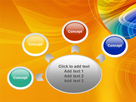 Rainbow Smoke PowerPoint Template Slide 7