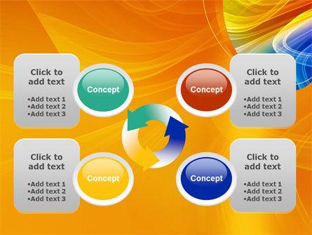 Rainbow Smoke PowerPoint Template Slide 9