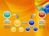 Rainbow Smoke PowerPoint Template#19