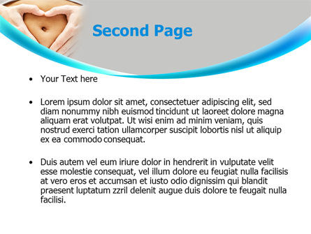 Belly Heart PowerPoint Template, Slide 2, 08270, Medical — PoweredTemplate.com
