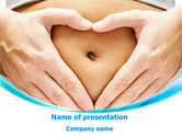 Medical: Belly Heart PowerPoint Template #08270