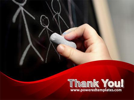 Blackboard Drawing PowerPoint Template Slide 20
