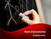 Education & Training: Blackboard Drawing PowerPoint Template #08271