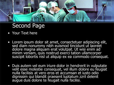 Surgical Procedure PowerPoint Template, Slide 2, 08272, Medical — PoweredTemplate.com