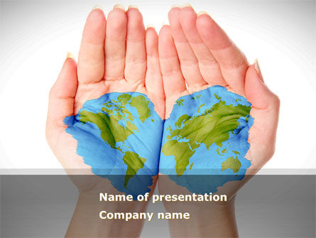Two Hemispheres PowerPoint Template, 08274, Nature & Environment — PoweredTemplate.com
