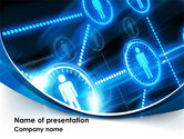 Technology and Science: People's Network PowerPoint Template #08275