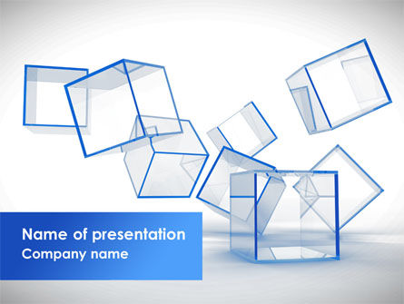 Business: Glass Cubes PowerPoint Template #08276