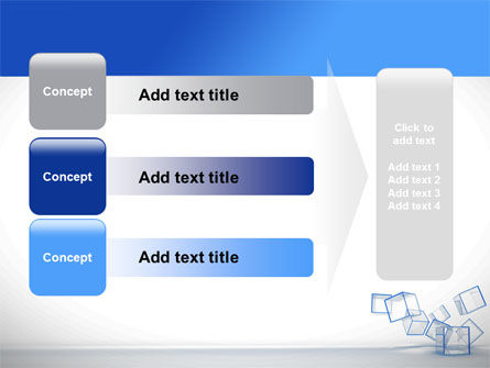 Glass Cubes PowerPoint Template Slide 12