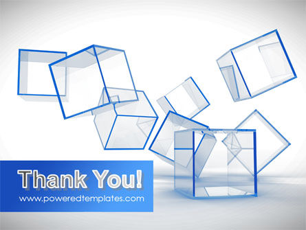 Glass Cubes PowerPoint Template Slide 20