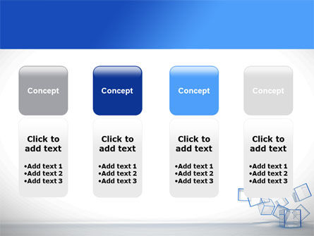 Glass Cubes PowerPoint Template Slide 5