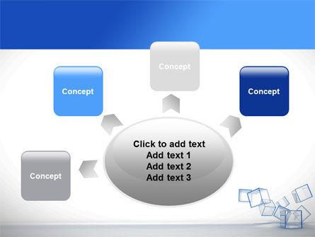 Glass Cubes PowerPoint Template Slide 7