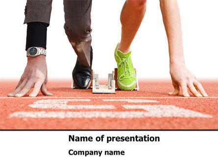Careers/Industry: Business Sport PowerPoint Template #08278