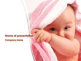 People: Little Baby Happy Face PowerPoint Template #08279