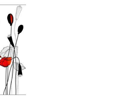 Stylized Poppies PowerPoint Template, Slide 3, 08283, Art & Entertainment — PoweredTemplate.com