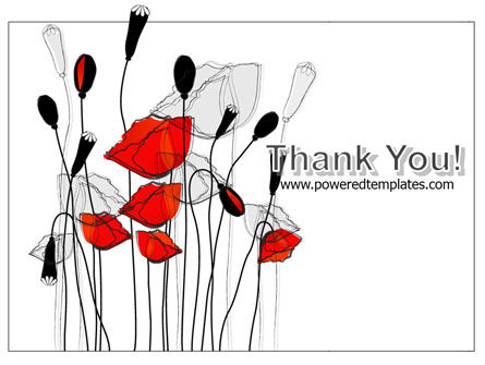 Stylized Poppies PowerPoint Template Slide 20