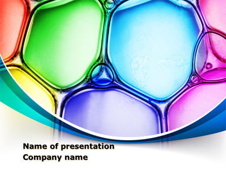 Colorful Bubbles PowerPoint Template, 08284, Abstract/Textures — PoweredTemplate.com