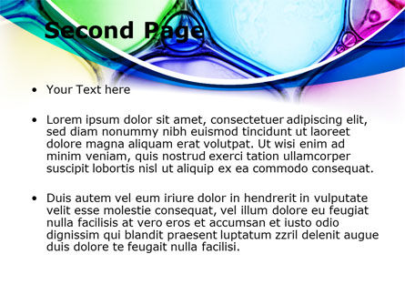 Colorful Bubbles PowerPoint Template, Slide 2, 08284, Abstract/Textures — PoweredTemplate.com