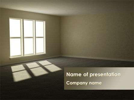 Empty Room PowerPoint Template, 08285, Construction — PoweredTemplate.com