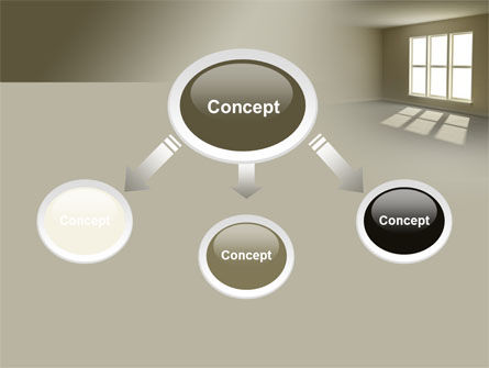 Empty Room PowerPoint Template, Slide 4, 08285, Construction — PoweredTemplate.com