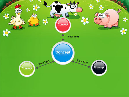 Funny Farm PowerPoint Template Slide 14