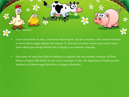 Funny Farm PowerPoint Template, Slide 2, 08286, Education & Training — PoweredTemplate.com
