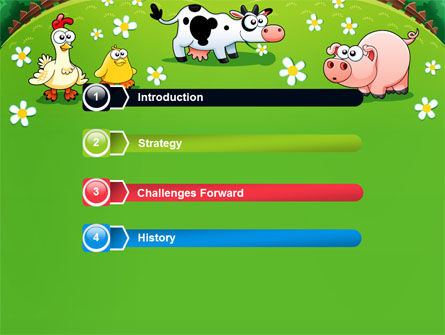 Funny Farm PowerPoint Template, Slide 3, 08286, Education & Training — PoweredTemplate.com