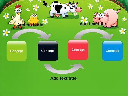 Funny Farm PowerPoint Template, Slide 4, 08286, Education & Training — PoweredTemplate.com